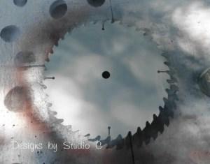 saw blade clock SANY2550