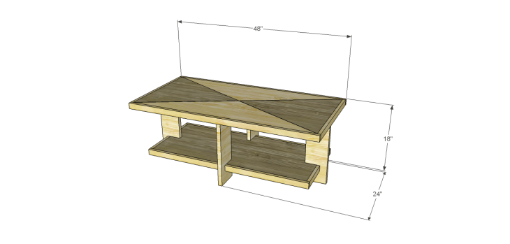 build modern chunky coffee table