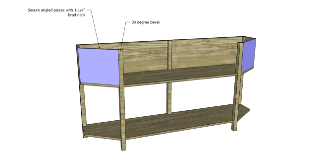 angled console table plans_Fronts 2