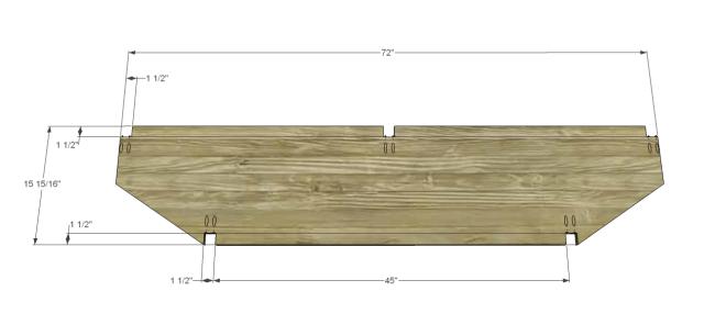angled console table plans_Shelf & Bottom 1