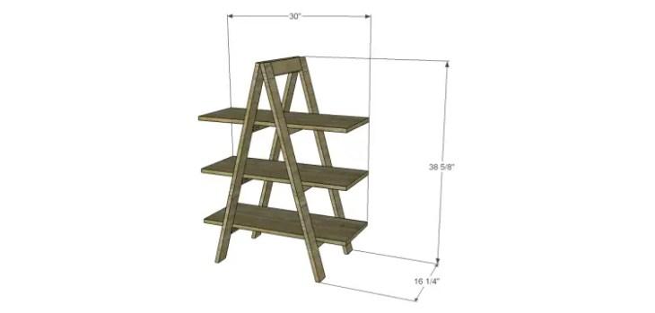 a-frame bookshelf plans