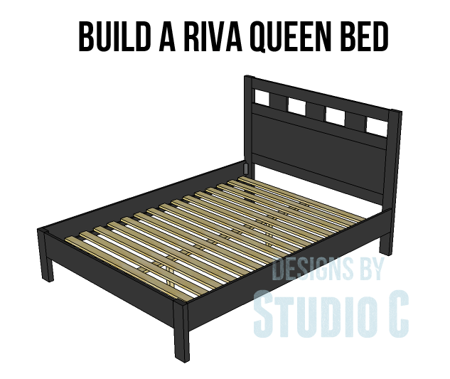 Riva Queen Bed Plans