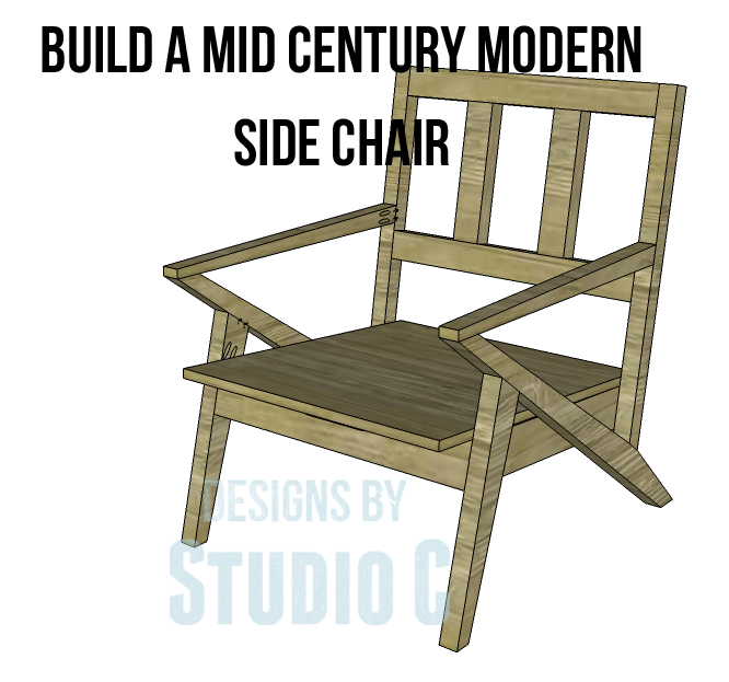Modern Furniture Drawings build a mid century modern side chair – designsstudio c
