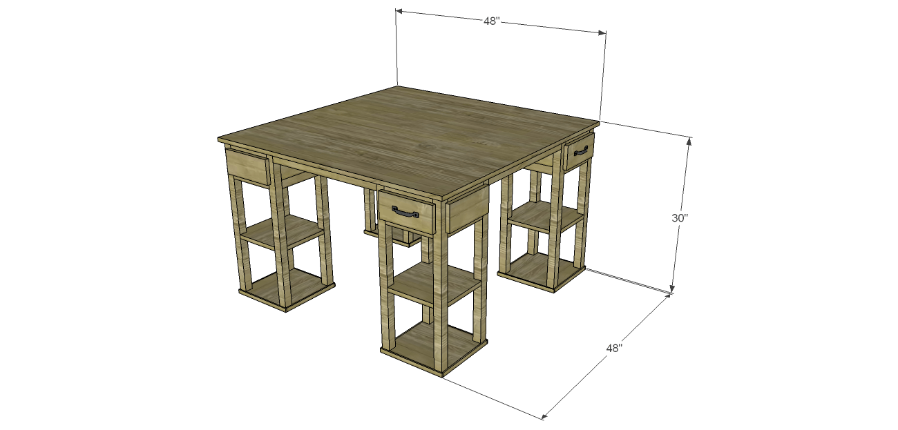 Build A Large Craft Table
