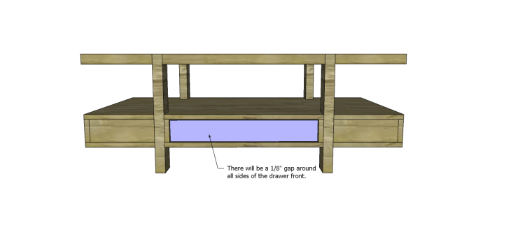 coffee table plans glass top drawers_Drawer Front