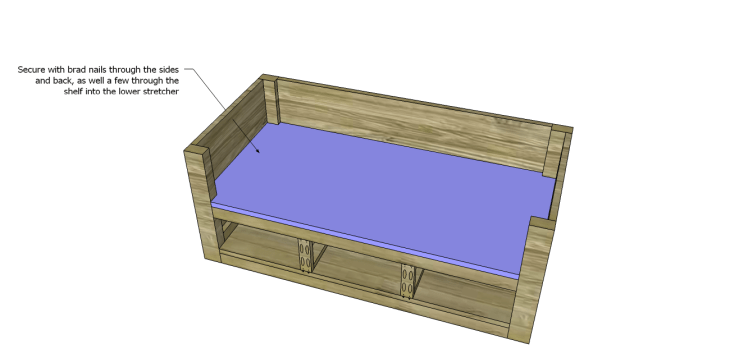 coffee table plans with drawers_Upper Shelf 2