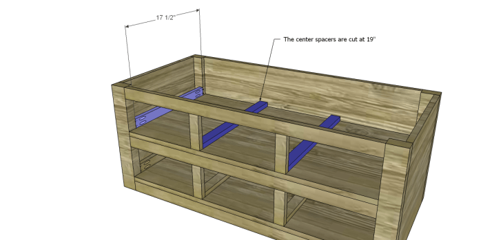 coffee table plans with drawers_Upper Spacers