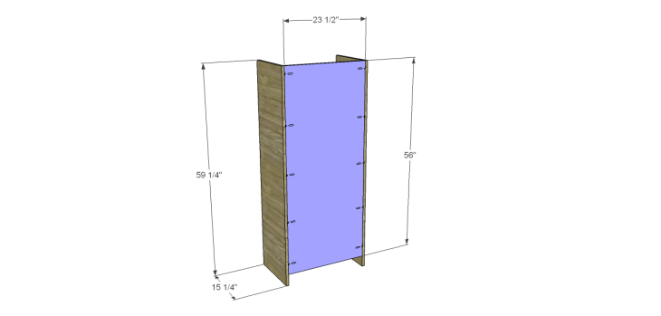 tall chest drawers plans_Sides & Back