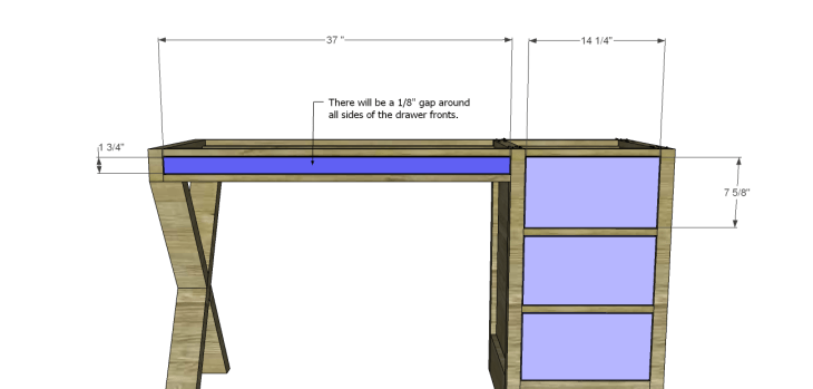 diy plans build desk_Drawers