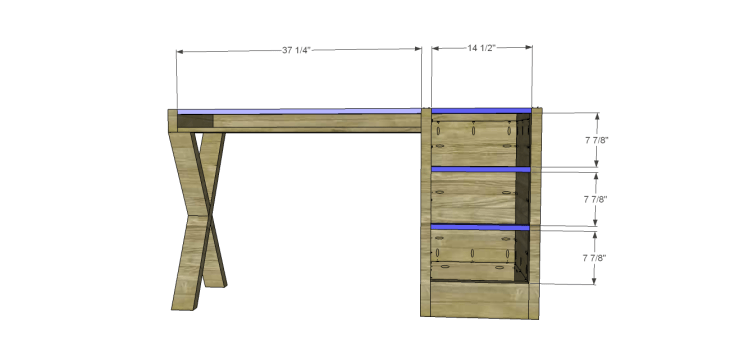 diy plans build desk_Stretchers