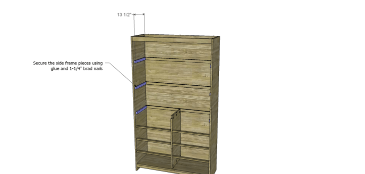 diy pantry armoire plans_Shelf Frames 2