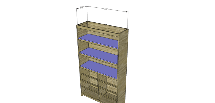 diy pantry armoire plans_Shelves