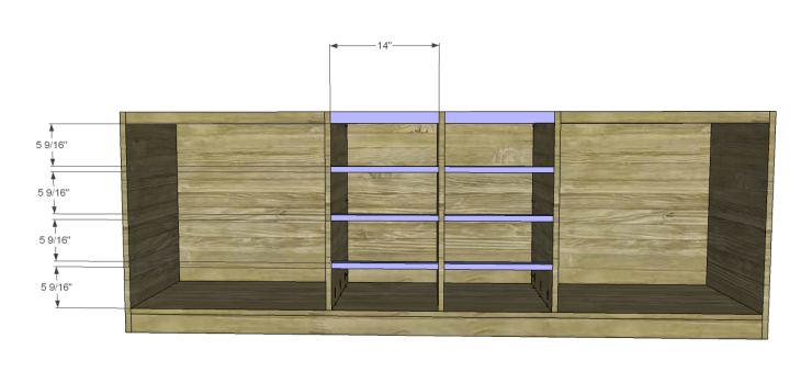 plans build large stately bookcase_Drawer Stretchers