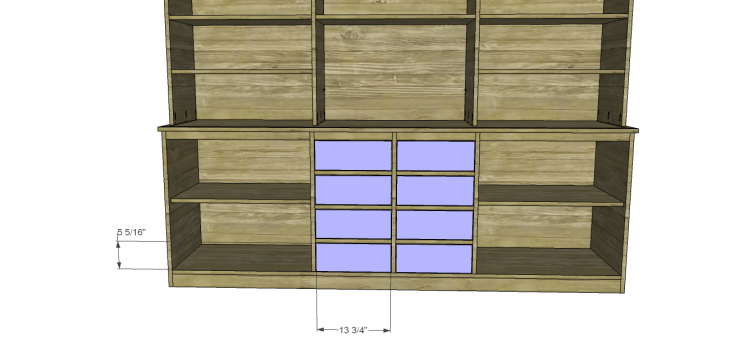 plans build large stately bookcase_Drawers
