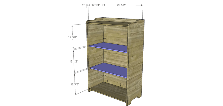 country storage cabinet plans_Shelves