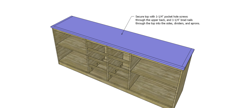 plans build large stately bookcase_Top 2