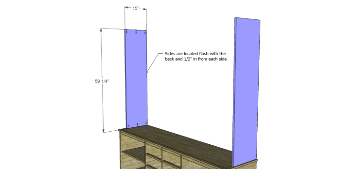 plans build large stately bookcase_Upper Sides