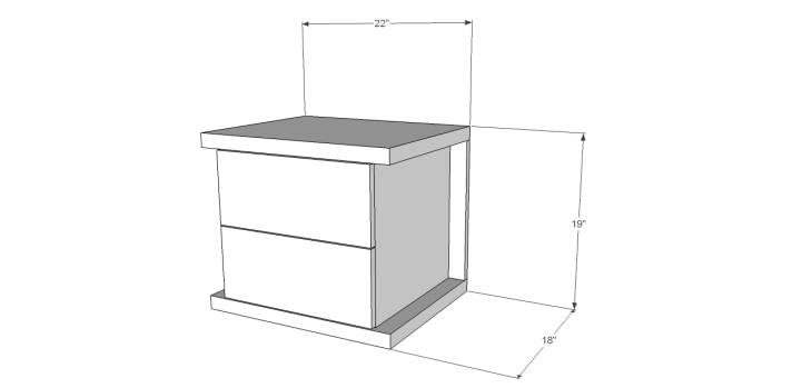 hite bedside table plans