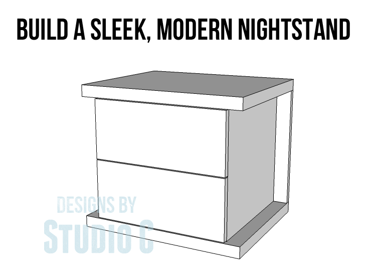 Build a sleek modern nightstand designs by studio c for Build a bedside table