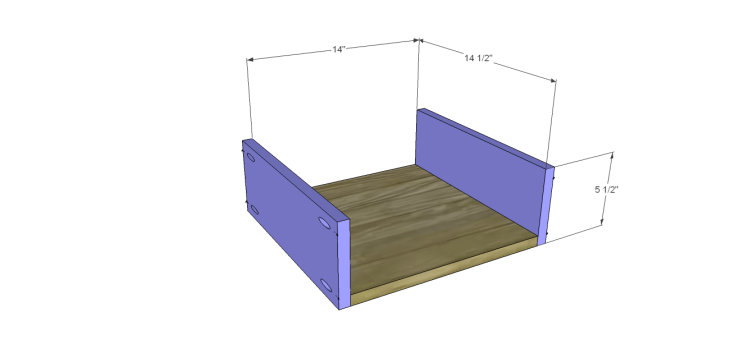 hite bedside table plans_Drawer BS
