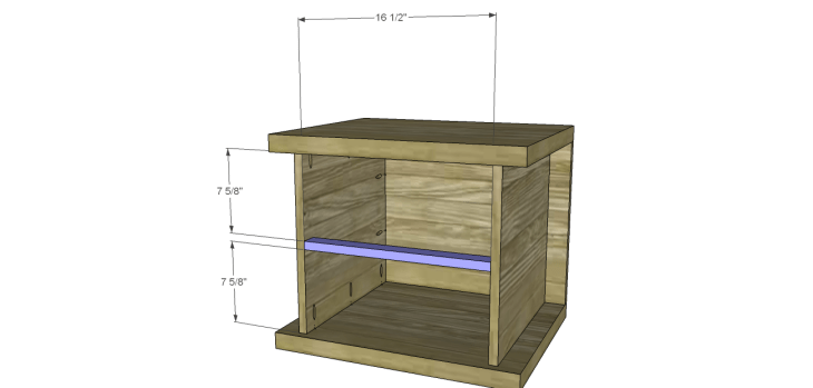 hite bedside table plans_Drawer Stretcher