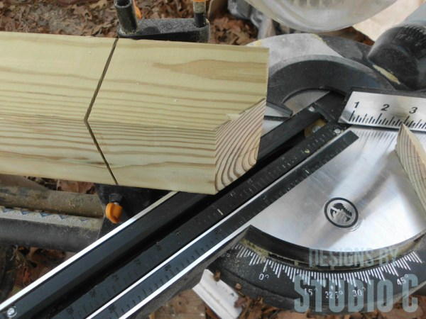 how to cut posts for deck SANY2881