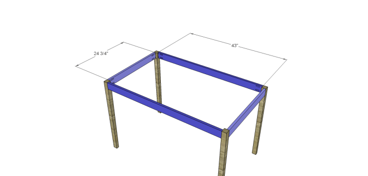 free furniture plans build hexagon dining table_Aprons