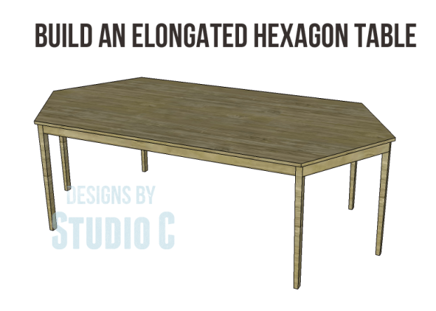 free furniture plans build elongated hexagon table_Copy