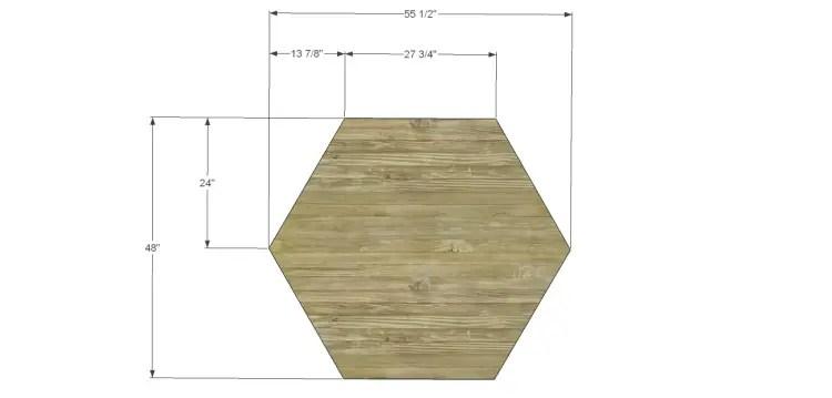Hexagon End Table Makeover