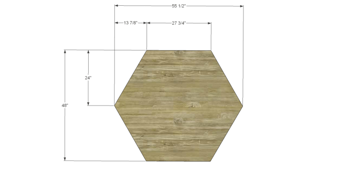 free furniture plans build hexagon dining table_Top 1