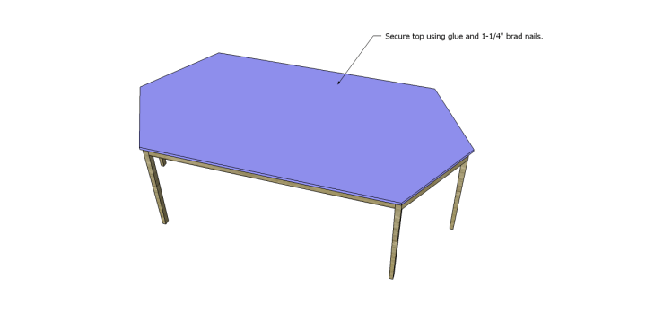 free furniture plans build elongated hexagon table_Top 2