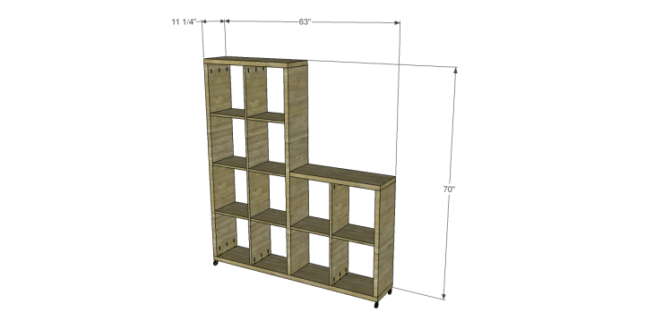 cascade bookcase plans
