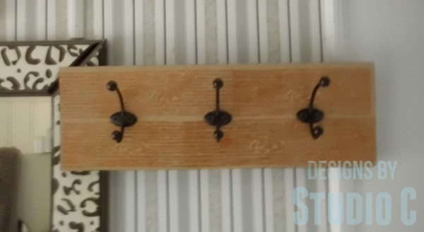 make a wall hook rack SANY2978