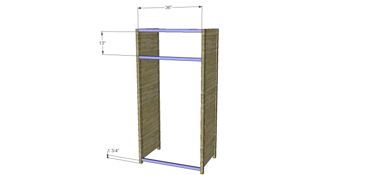 plans build alans larder cabinet_Front Stretchers