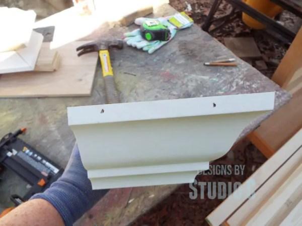 build a ledge shelf with crown molding DSCF1208