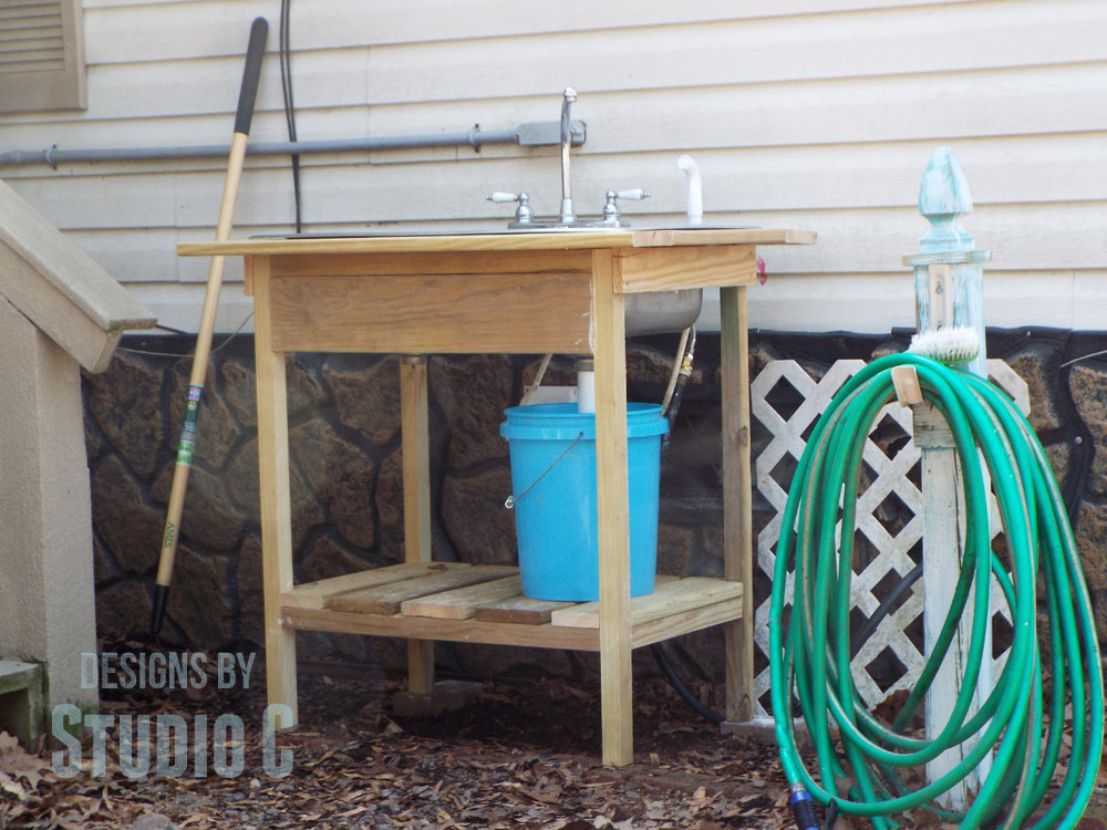 Build An Outdoor Sink Part Two Connecting The Water Supply Designs By S