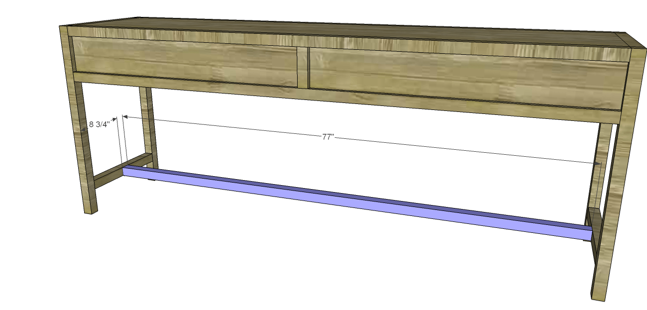 Build a long console table designs by studio c for Long table design