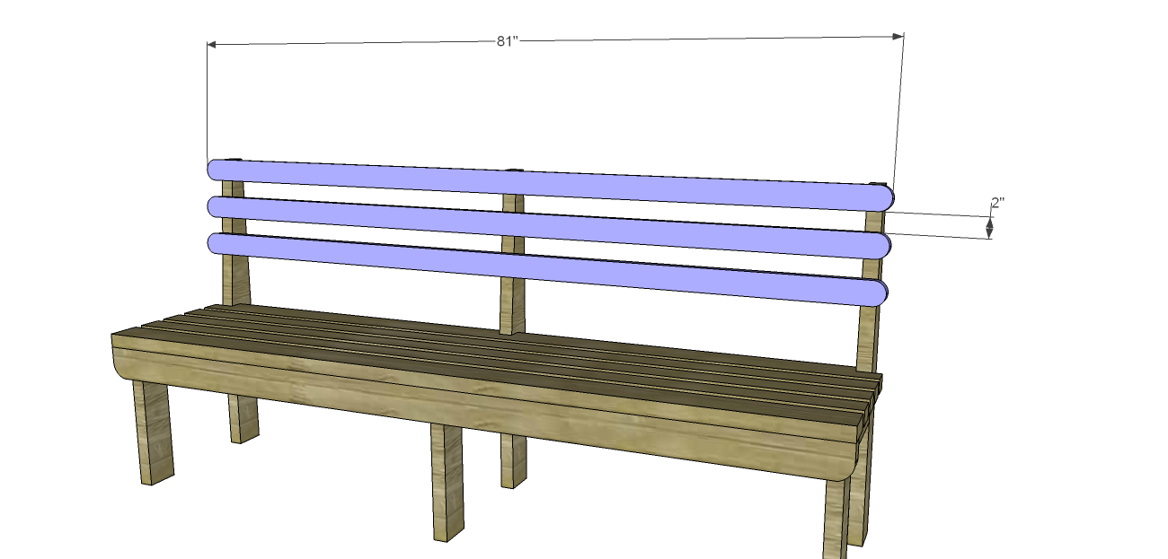 how to build a bench with back