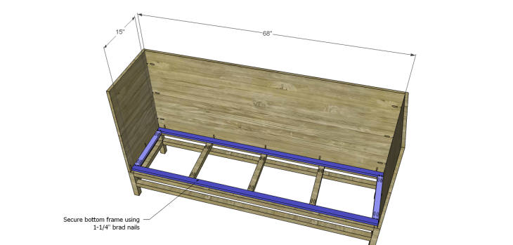 plans build esmerelda buffet-Bottom Frame