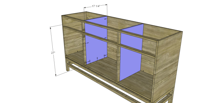 plans build esmerelda buffet-Cabinet Dividers
