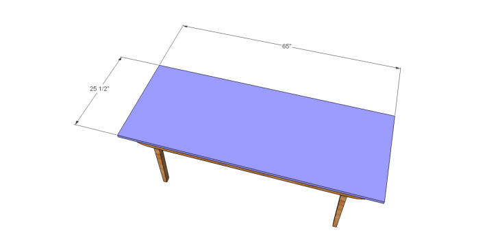 Danish Modern coffee table plans-Top