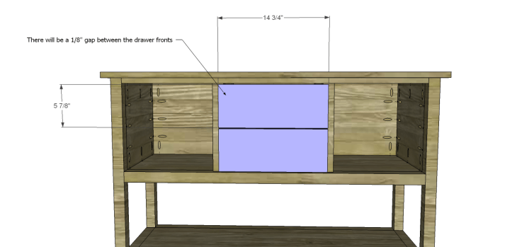 ronen sideboard plans-Drawer Fronts