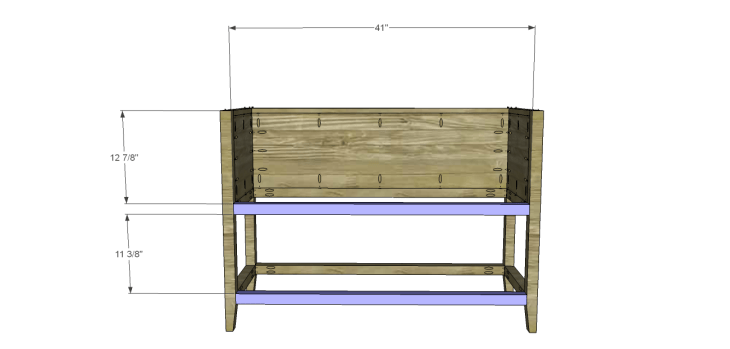 ronen sideboard plans-Front Stretchers