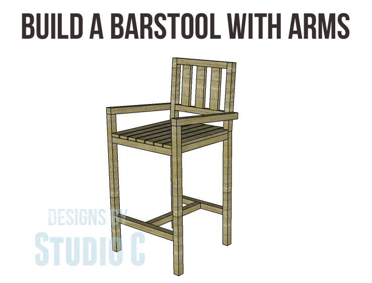 Build A Barstool With Arms