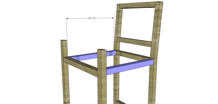 Plans to Build a Barstool with Arms_Side Stretchers