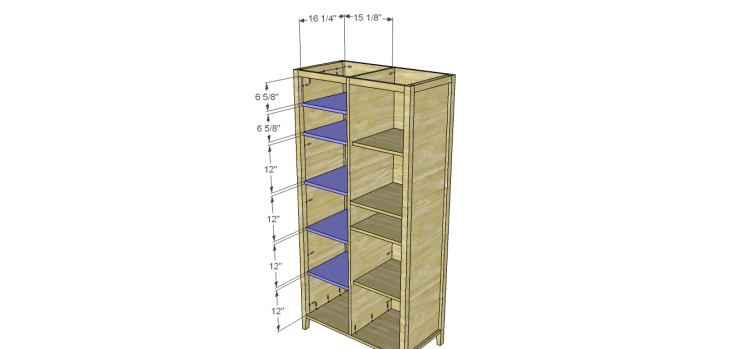 Allie Armoire Cabinet Plans-Shelves 2