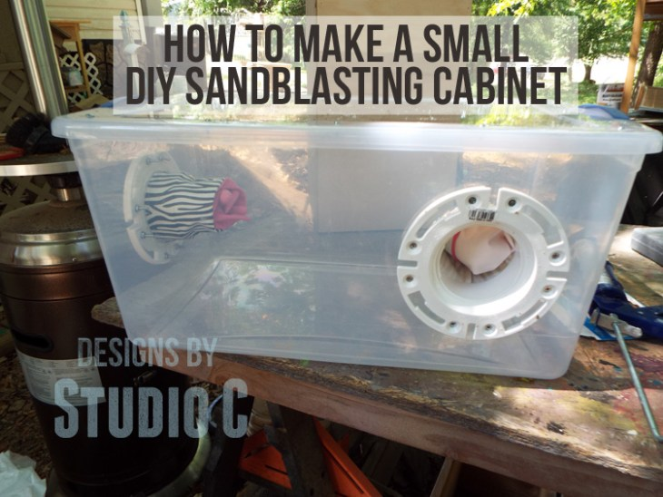 Make A Small Sandblasting Cabinet For The Air Eraser