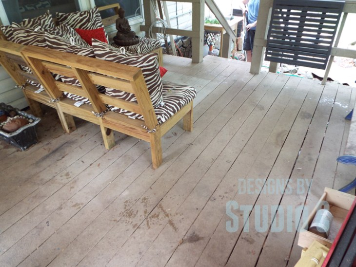Deck Restore Review Revisited - Floor Before