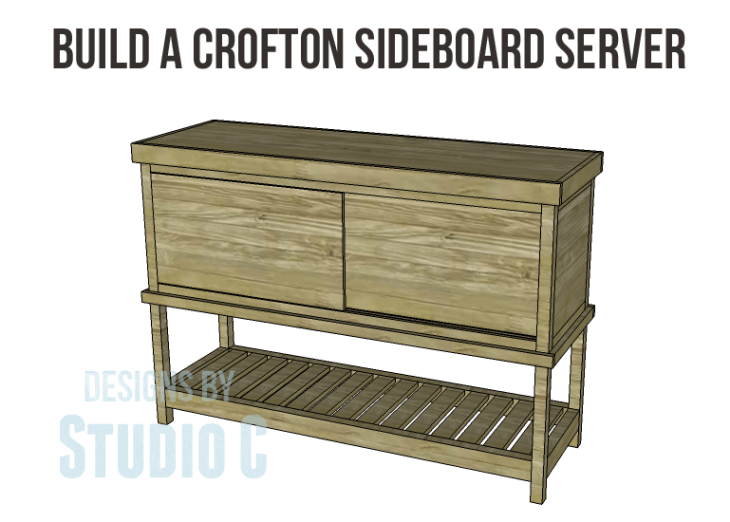 Crofton Sideboard Server Plans-Copy