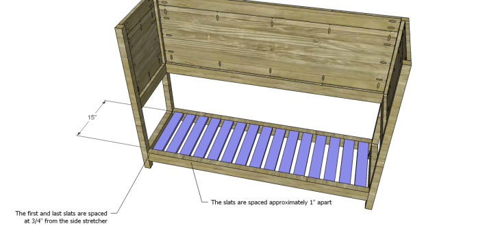 Crofton Sideboard Server Plans-Slats
